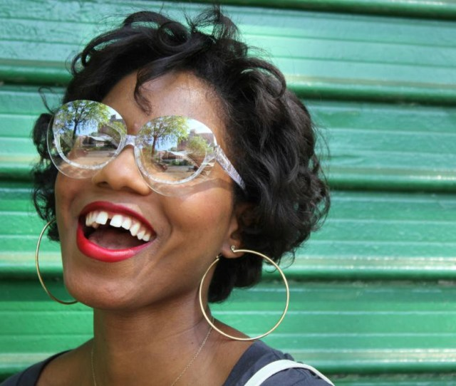 Image Description Beautiful Black Woman Smiles Wide For The Camera She Has A Medium Sized Gap In Her Teeth She Looks Awesome Via Fashionsteelenyc Com
