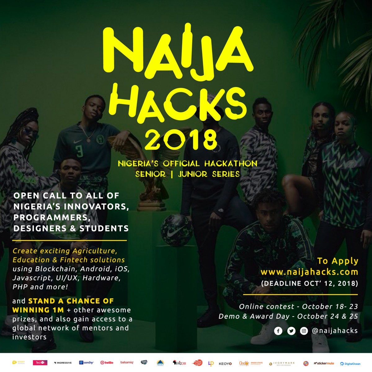 Banner for unveiling NaijaHacks
