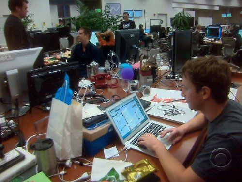 Mark zuckerberg at his desk