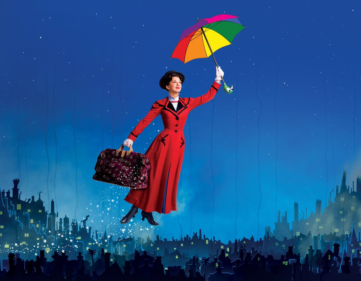 Mary Poppins A Childs Wish Red Rose Medium