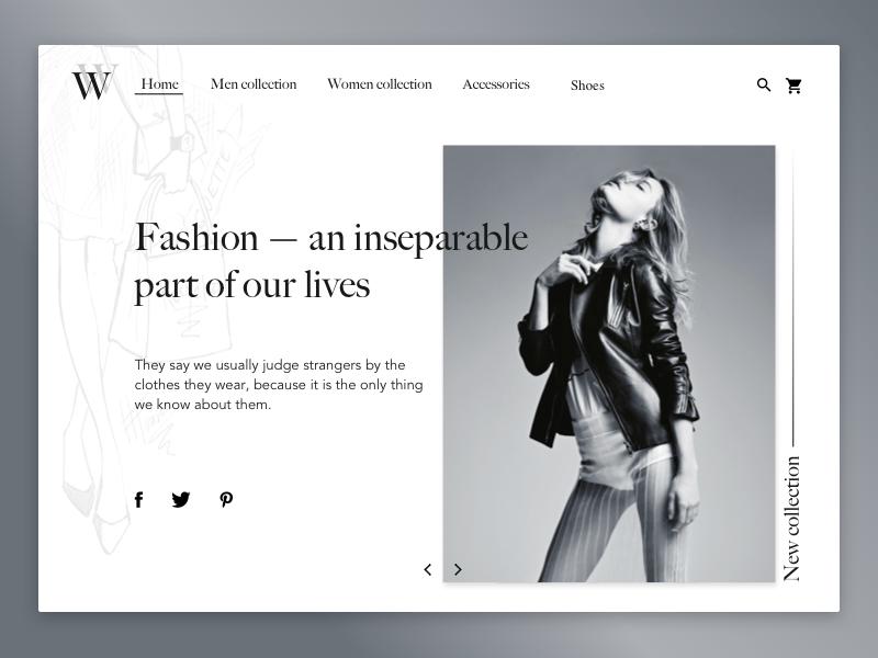 ファッションウェブサイト