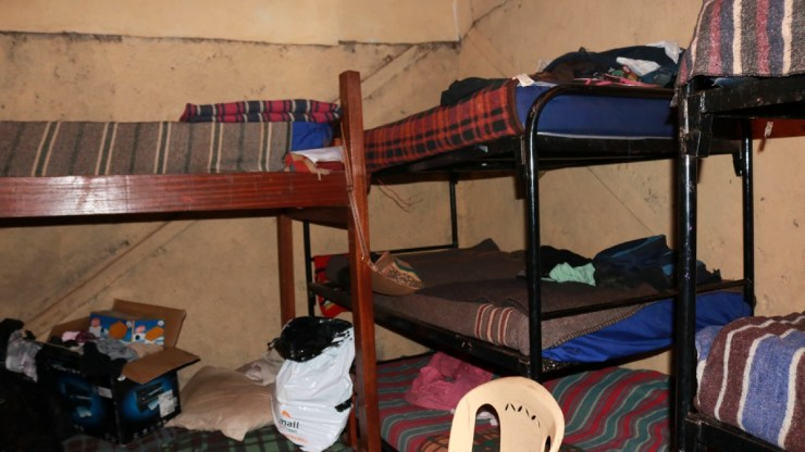 The room Mama Lorna shares with her 20+ kids in Kibera