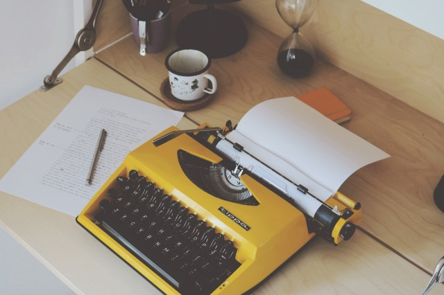 Image result for writing on typewriter