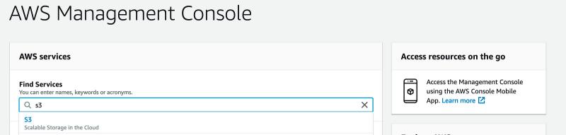 AWS Console…