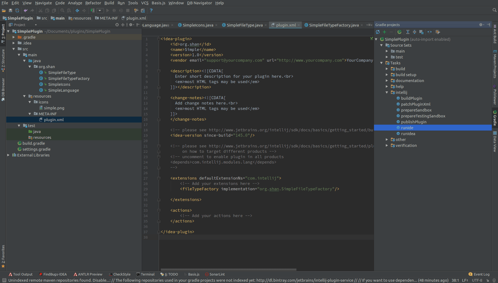 Custom Language Plugin Development For Intellij Idea