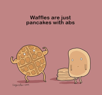 11 Painfully Corny Food Jokes That Are So Bad They Might Actually Be     The Waffle Joke