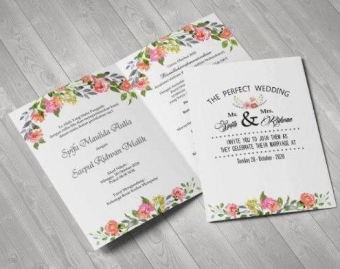 Cetak Undangan Pernikahan Unik Harga Murah Pernikahan Medium
