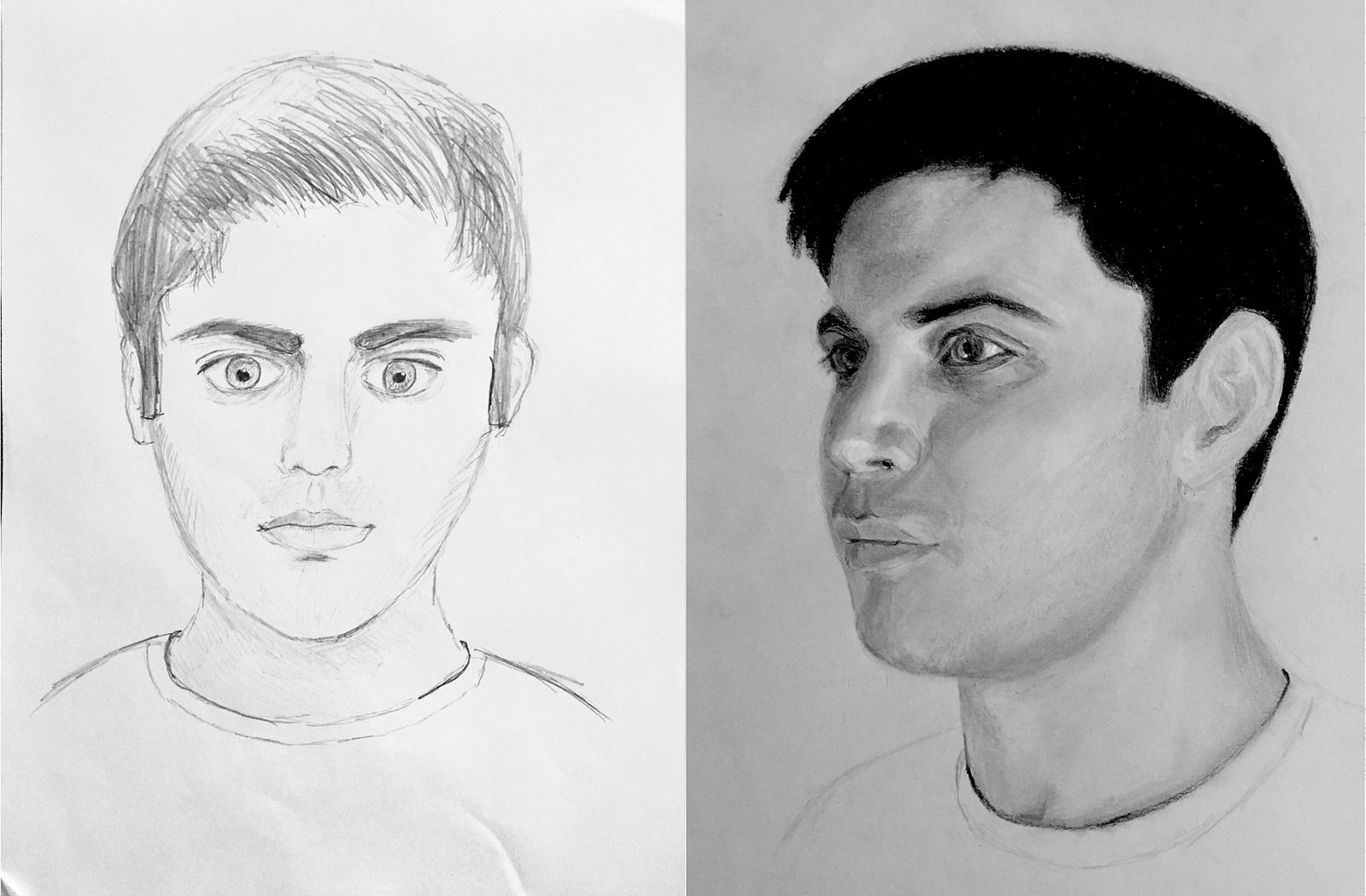 M2m Day 55 A Critique Of My Self Portrait Max Deutsch