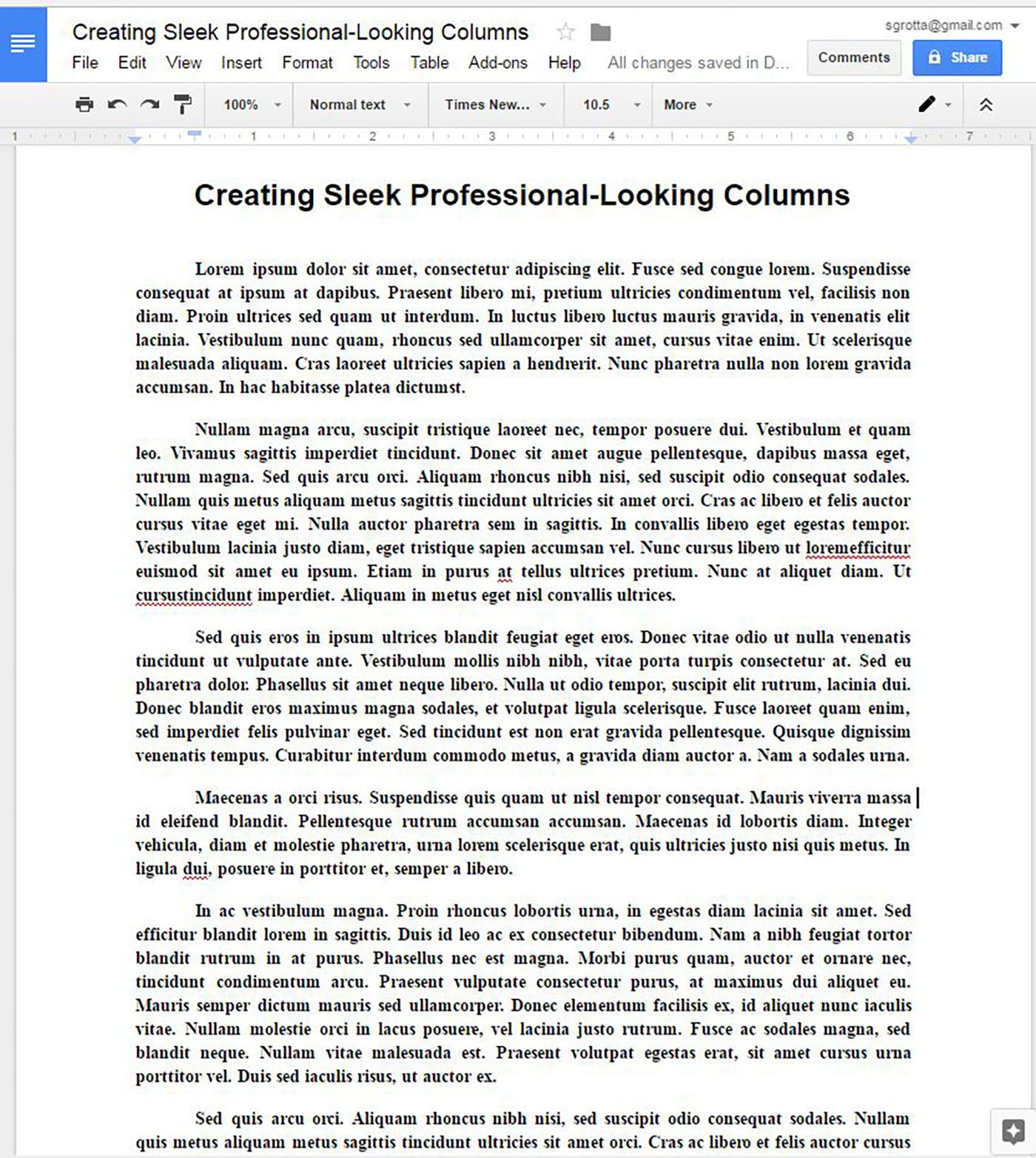 Create Sleek Professional Looking Newsletter Type Columns