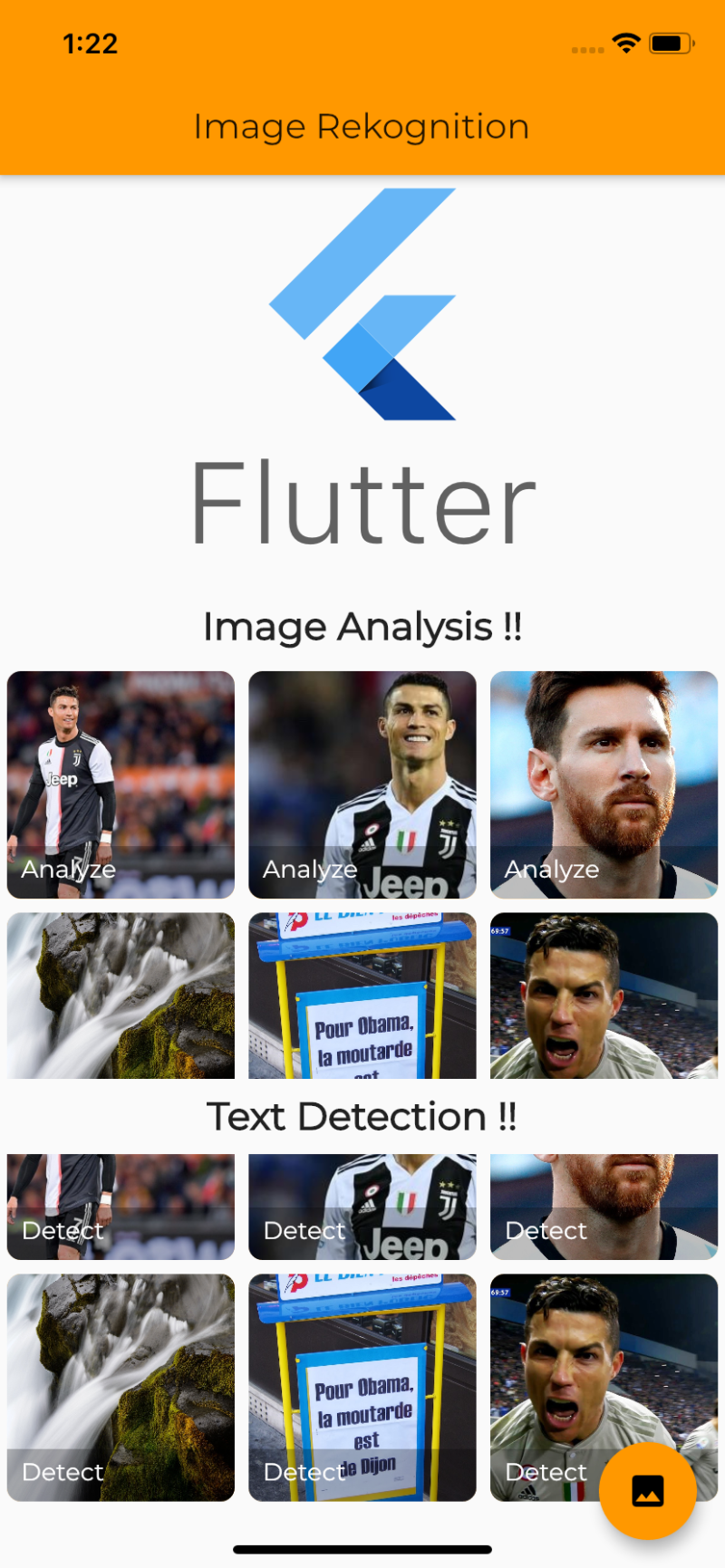 Image and Text Rekognition in Flutter using AWS