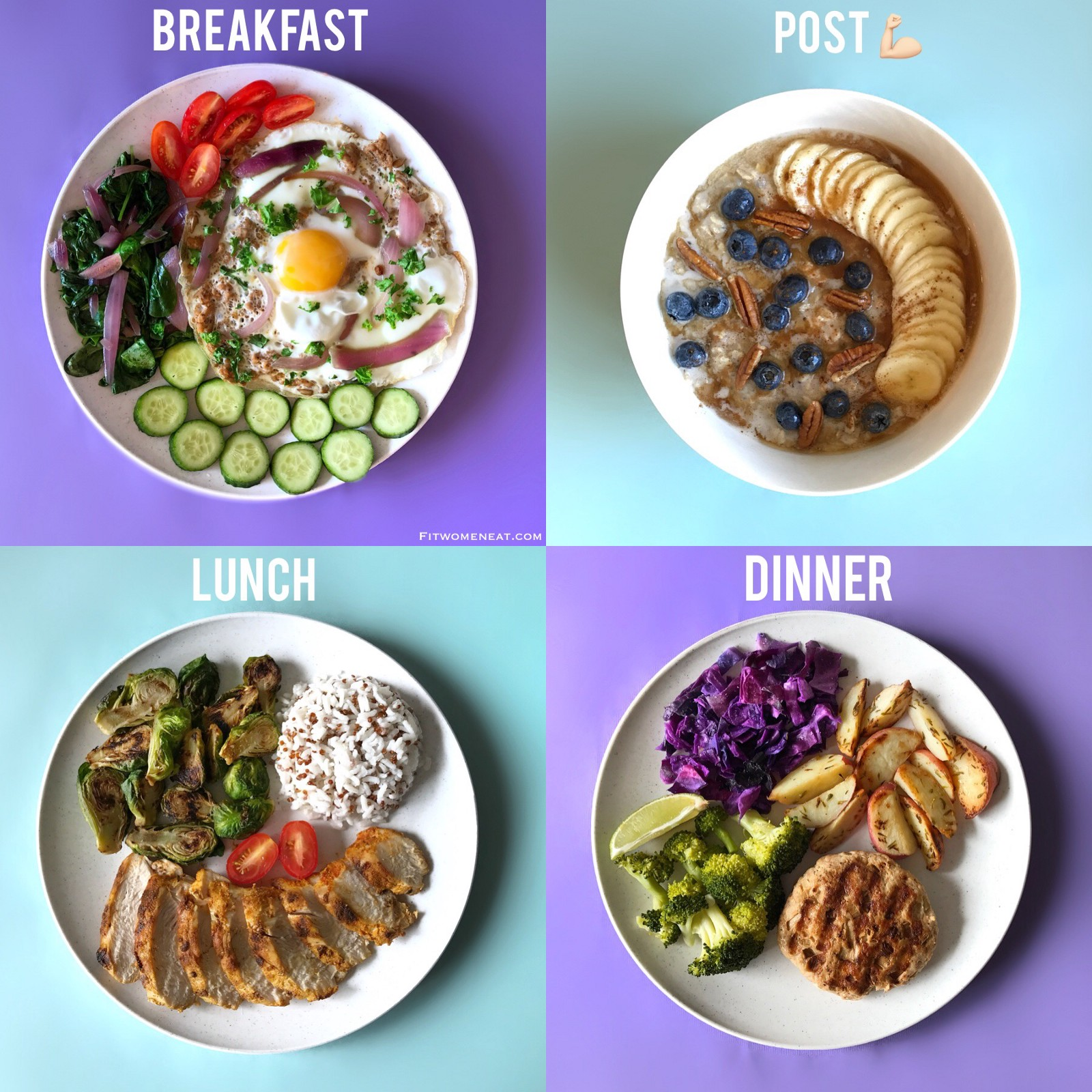 Colorful Meal Prep Break Down Fit Women Eat
