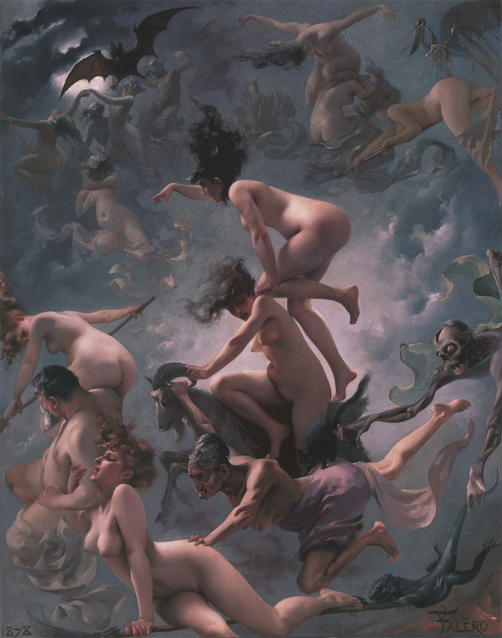 """Witches Going to Their Sabbath,"" by Luis Ricardo Falero (1878)"