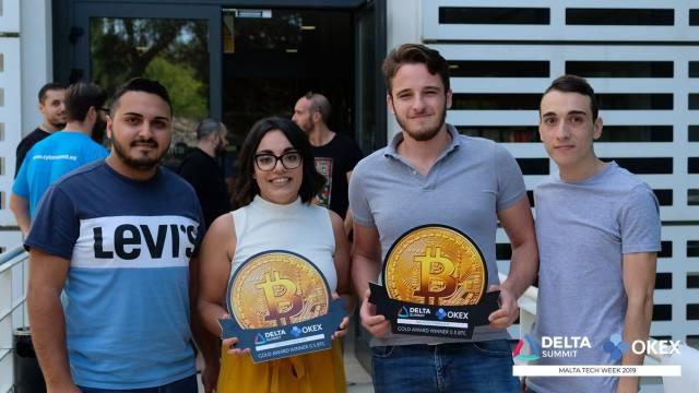DELTA Summit OKEx Malta Tech Week—Champion team of OKEx Tech Hackathon