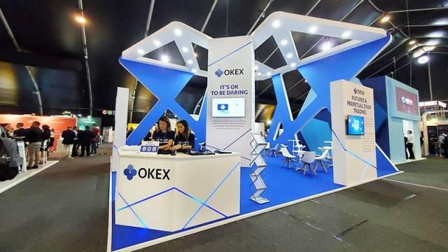DELTA Summit OKEx Malta Tech Week—OKEx booth at DELTA Summit