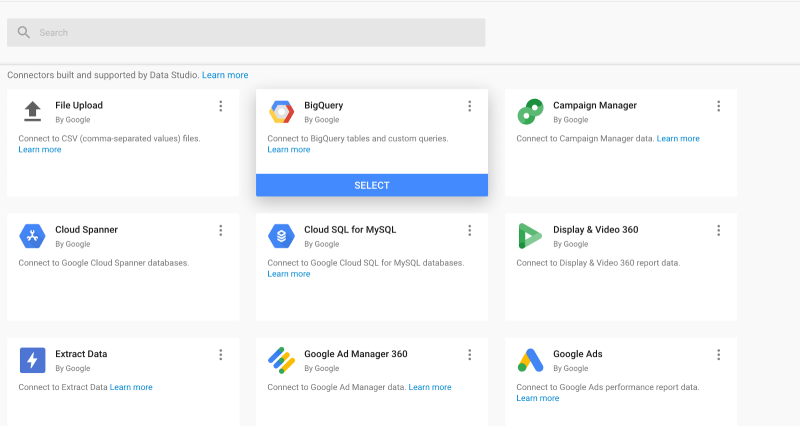 BigQuery and Data Studio…