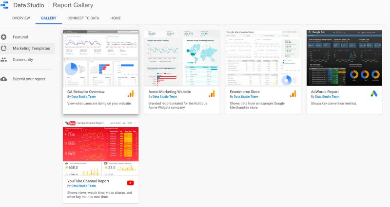 Data Studio…