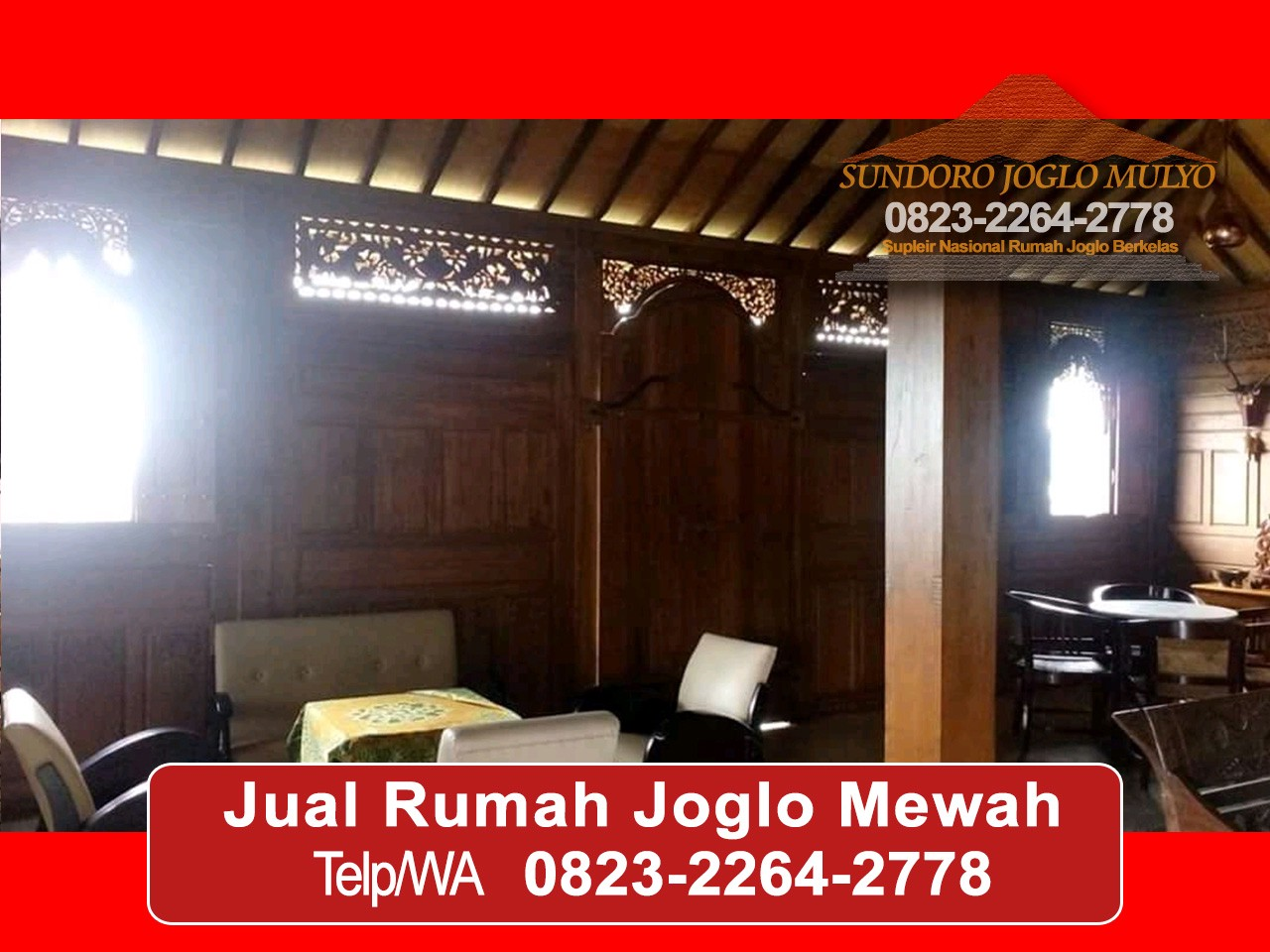 Antik 0823 2264 2778 Harga Rumah Joglo Modern Rumah Joglo Mewah