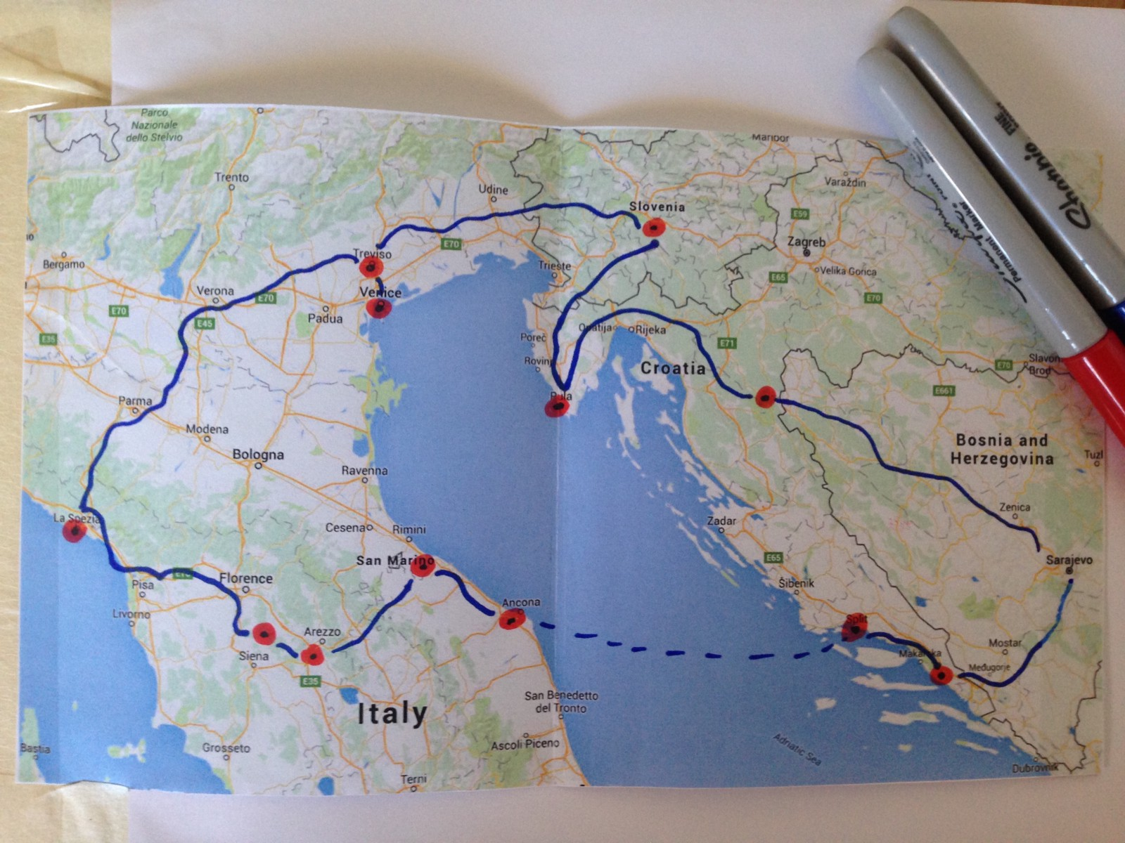 to zoom road map Slovenia Croatia