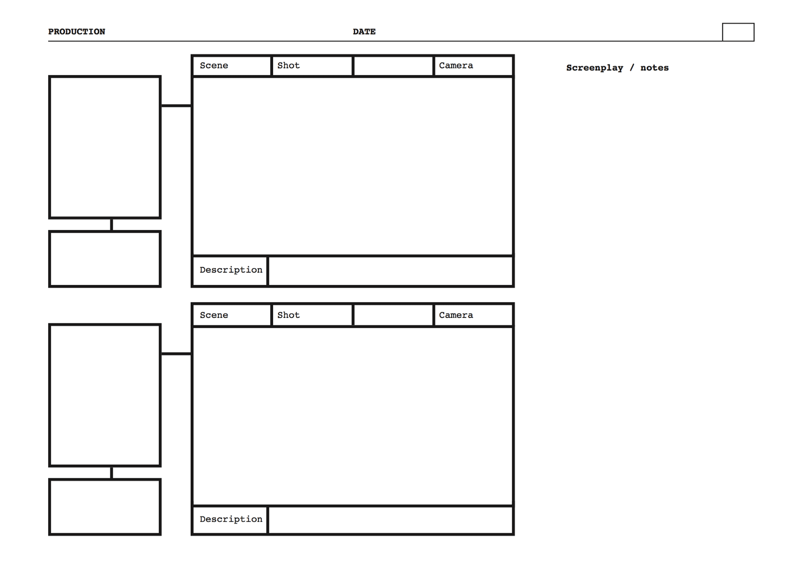 Free Storyboard Templates Film Storyboards Medium