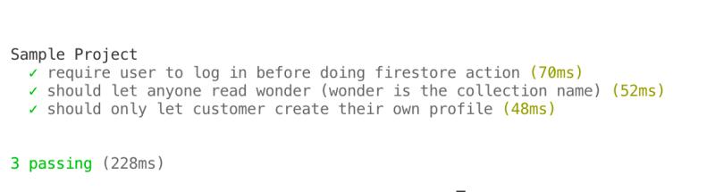 Testing Firestore rules using Emulator Suite