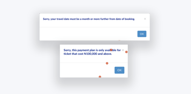 User Errors on Experimented Pay LaterFeature
