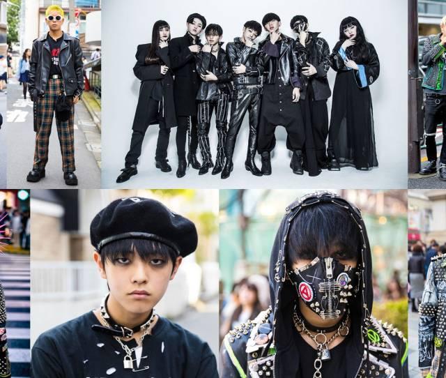 Harajuku Punk Inspired Street Styles Center Top Group Shot By Ken Daimon