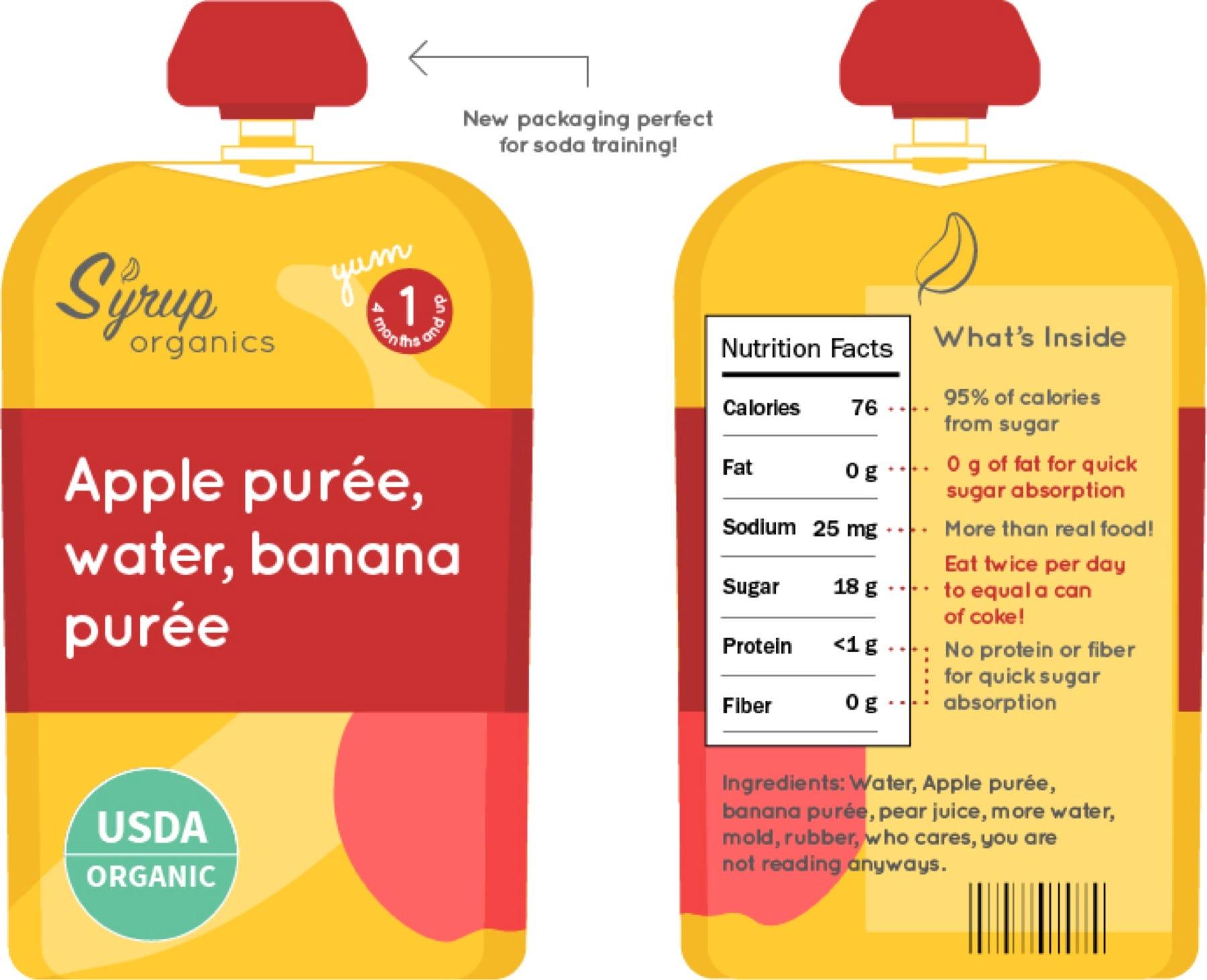 Apple Juice Food Label