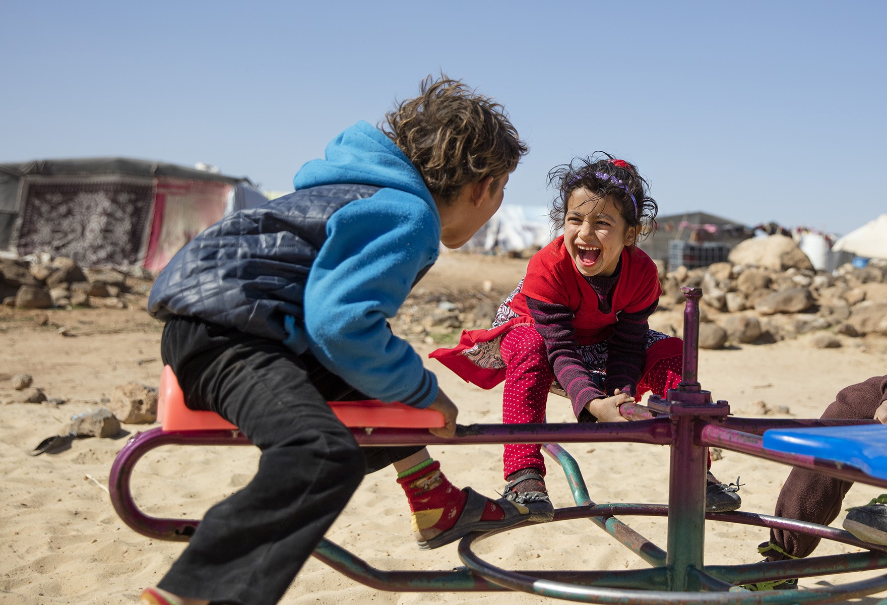 Meeting The Eyes Of Children Displaced By Conflict A