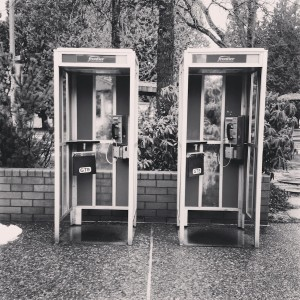 Phone booths at Canada USA border