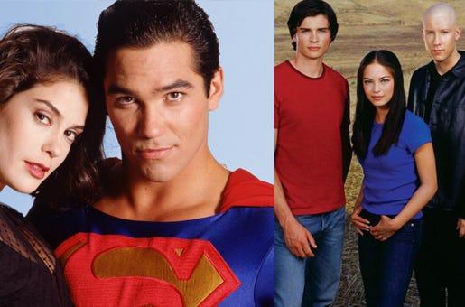 Lois & Clark (1993) e Smallville (2001) são as adaptações para a TV mais recente do homem de aço.