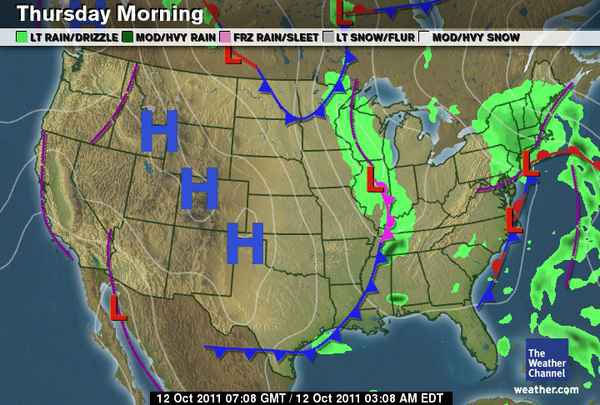 How To Read This Morning s Weather Map     The Awl     Medium Here s this morning s weather map  straight from the Weather Channel  website  What do we see  Well  it s going to be a purple line in  California