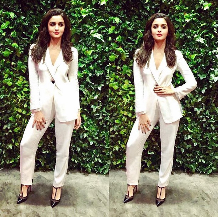 Alia Bhatt koffee with karan look