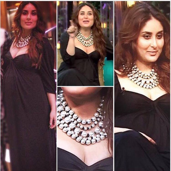 Kareena Kapoor Khan koffee with karan look