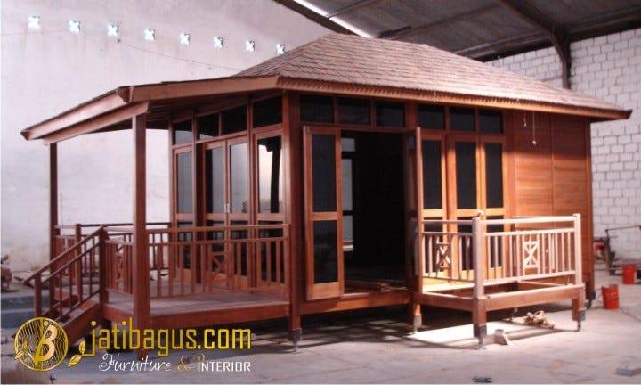Rumah Kayu Minimalis Modern Panggung Rk 003 Jatibagus Jepara Medium