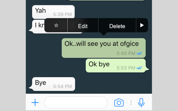how to edit sent whatsapp messages