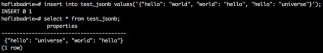 Duplikasi Kunci / Atribut pada JSONB
