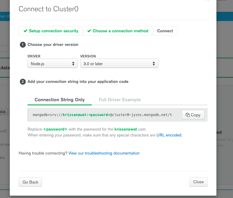 Connect to Cluster0