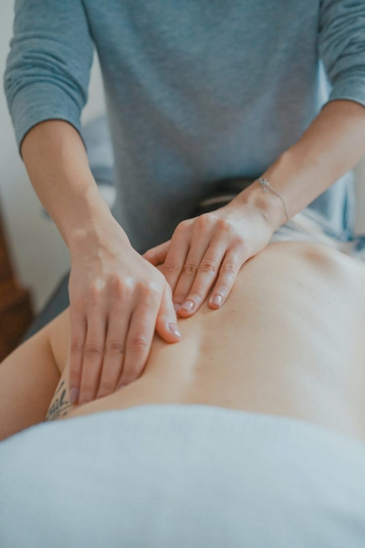 Someone getting a massage.