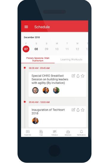 NHRD TecHeart 2018 event app
