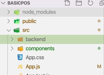 Backend folder