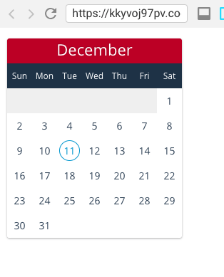 Build a React Calendar Component from scratch - Programming with Mosh