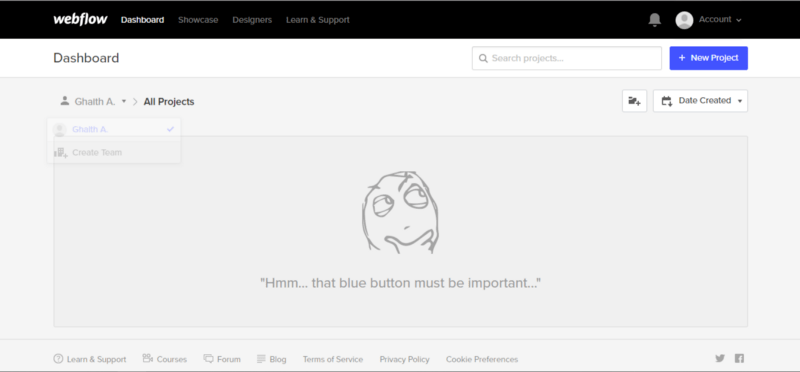 delightful empty space illustration from webflow.io