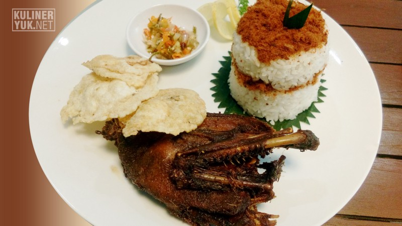 Bebek Goreng ~ One of the traditional dishes as Signature Food at SOFA Pasirkoja Bandung