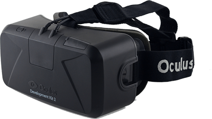 Image of the VR device Oculus Rift.