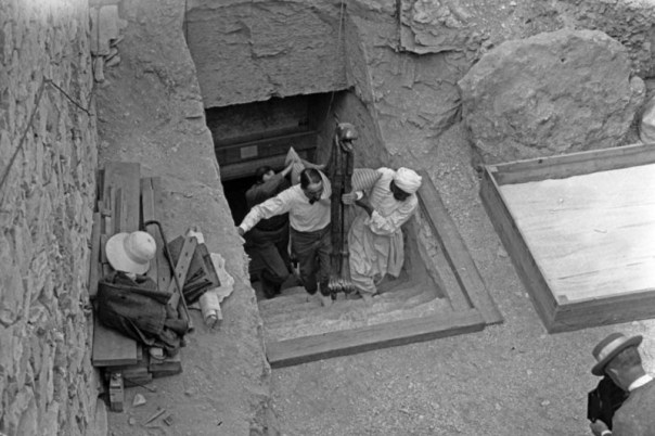 Carter and his workers remove the treasures — did they provoke the pharaoh's wrath?