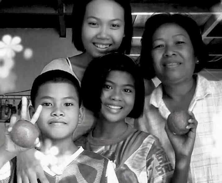 Cambodian family group
