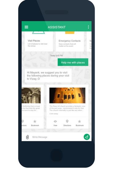 chatbot event app