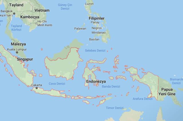 Okyanusya Vizesiz Ülkeler endonezya