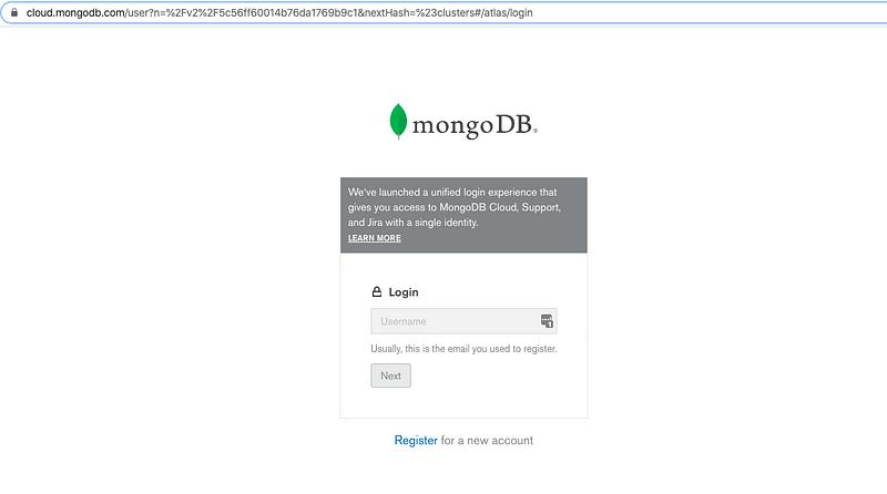 Setting up MongoDB on cloud