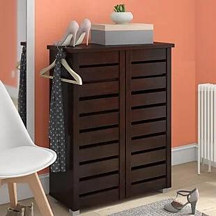 15pr Shoe Storage Cabinet $106 Shipped